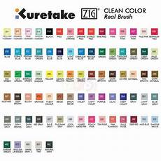 Zig Real Brush Color Chart Zig Real Brush Clean Color Pen Sets Craft Warehouse
