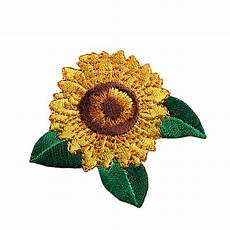 2 25 quot sunflower self adhesive embroidered iron on