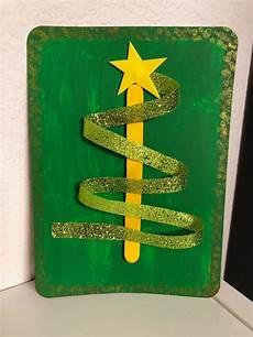 Ribbon Cards Making A Christmas Tree Ribbon Card Thriftyfun