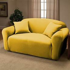 Yellow Sofa Slipcover 3d Image by Yellow Jersey Loveseat Stretch Slipcover Cover