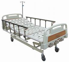 mobile manual hospital bed for general ward aluminum