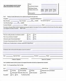 Special Incident Report Form California 42 Free Incident Report Templates Pdf Word Free