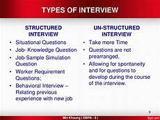 Situational Type Interview Questions Selection