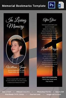 Funeral Memorial Book Template 21 Funeral Bookmark Templates Word Psd Free