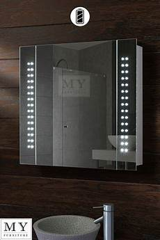 Bathroom Mirror Cabinet With Battery Lights Battery Led Illuminated Bathroom Mirror Cabinet Ip44