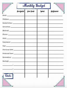 Budget Sheets Templates Free Budgeting Printables Expense Tracker Budget Amp Goal
