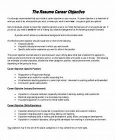 Qualification On A Resumes Free 7 Sample General Objective For Resume Templates In Pdf