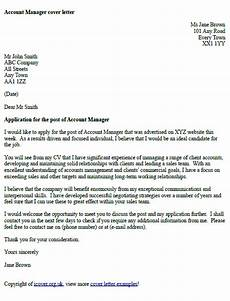 Structure Of A Good Cover Letters Account Manager Cover Letter Example Icover Org Uk