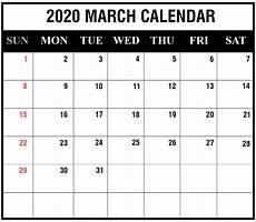 March 2020 Calendar Printable Free Download March 2020 Calendar Printable Templates Pdf