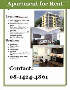 Free Rent Ads Apartment Flyer Template Apartments For Rent Renting A