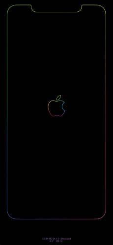 Iphone Xs Wallpaper Apple Logo by Xs Max Rainbow Border Apple Logo Iphonexsmax