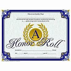 Honor Roll Certificate Templates Amazon Com A Honor Roll Certificate Gold Laurel Leaves