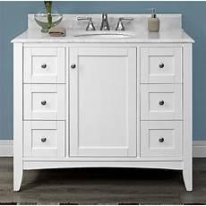 fairmont designs shaker americana 42 quot vanity polar white