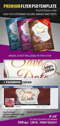 Save The Date Flyer Template Save The Date Psd Flyer Template 12040 Styleflyers