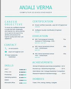 Attractive Resume Format For Freshers Curriculum Vitae Latest Format 2018