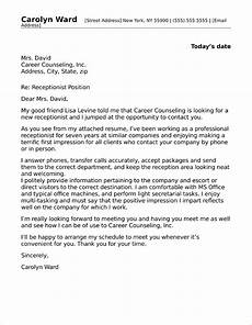 Cover Letter For Receptionist Position Receptionist Cover Letter Sample