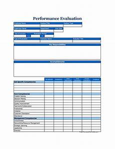Performance Evaluation Template For Employees 46 Employee Evaluation Forms Amp Performance Review Examples