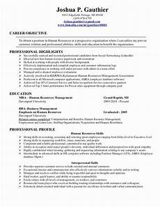 Human Resource Resume Objective 23 Human Resource Resume Objective Examples In 2020