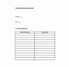 Free Sign In Template 18 Sign In Sheet Templates Free Sample Example Format