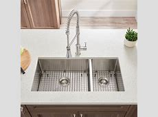 Pekoe 35x18 inch Offset Double Bowl Kitchen Sink   American Standard