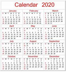 2020 Calendar Pdf Calendar 2020 Template Pdf Images 299