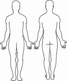 Outline Of Human Body Front And Back Body Outline Coloring Page Coloring Home