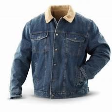 Jean Jacket Denim Guide Guide Gear 174 Fleece Lined Denim Jacket Stonewash