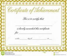 Certificates Of Achievement Free Templates Certificate Templates