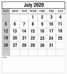 Page A Day Calendar 2020 Download July 2020 Calendar Printable Templates Pdf