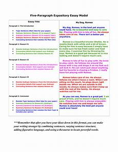 Simple 5 Paragraph Essay Examples 5 Paragraph Essay Model