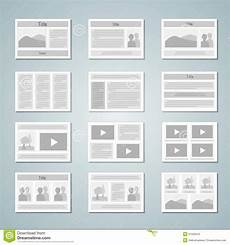 Photos Layout Templates Page Layout Template Set Stock Vector Illustration Of