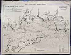 Fishers Island Sound Nautical Chart Fishers Island Sound Conn Antique Maps And Charts