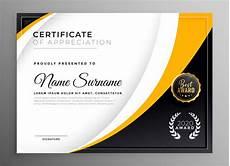 Professional Award Certificate Free Vector Professional Certificate Template Diploma