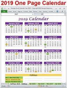 Dsny 2019 Chart Calendar Georges Excel Calendar Year 2019 Excel Calendar Excel