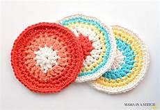 colorful quot vintage quot coasters free crochet pattern