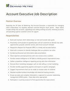 Customer Relations Duties Account Executive Job Description