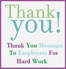 Employee Thank You Notes Appreciation Messages For Employees Sample Thank You Note