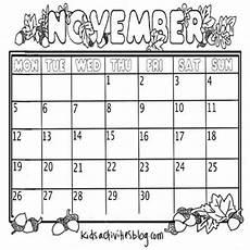 November Calendar Printable Oh So Many November Activities