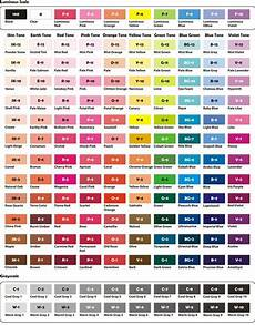 Caliart Markers 100 Color Chart Crayola Color Chart With Names Alcohol Based Art Marker