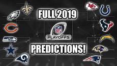 nfl playoffs 2019 2019 nfl playoff predictions who wins sb liii