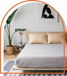 floyd bed with plant decor