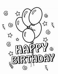 25 free printable happy birthday coloring pages