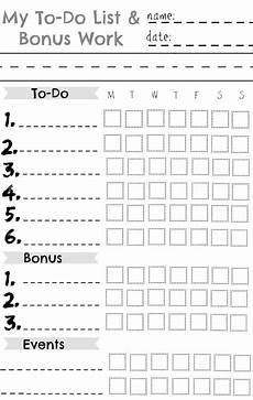 Chore List For Kids Kids Chore Chart Great For A Summer Chart Nesting With
