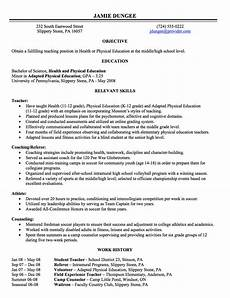 History Resume Resume Writing Employment History Full Page