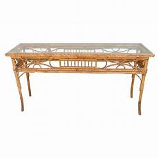 Bamboo Sofa Table 3d Image by Vintage Bamboo Sofa Console Table For Sale At 1stdibs