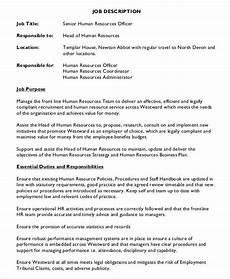 Senior Administrative Assistant Job Description Hr Assistant Job Description 14 Free Word Pdf