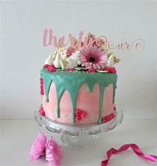 30th Birthday Cake Designs For Her Pink And Teal Drippy 30th Birthday Cake White Rose Cake