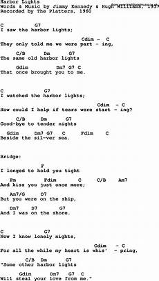 Light On Chords Song Lyrics With Guitar Chords For Harbor Lights The