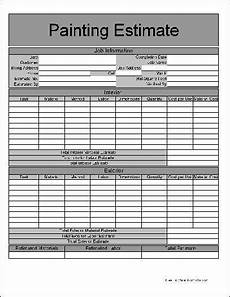 Painters Estimate Template Printable Job Estimate Forms Here Is A Preview Of The