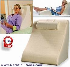 bed wedge pillow leg wedge relieves stress in